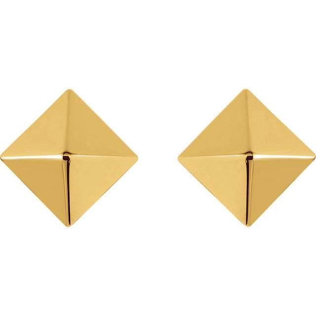 85888 14k pyramid earrings