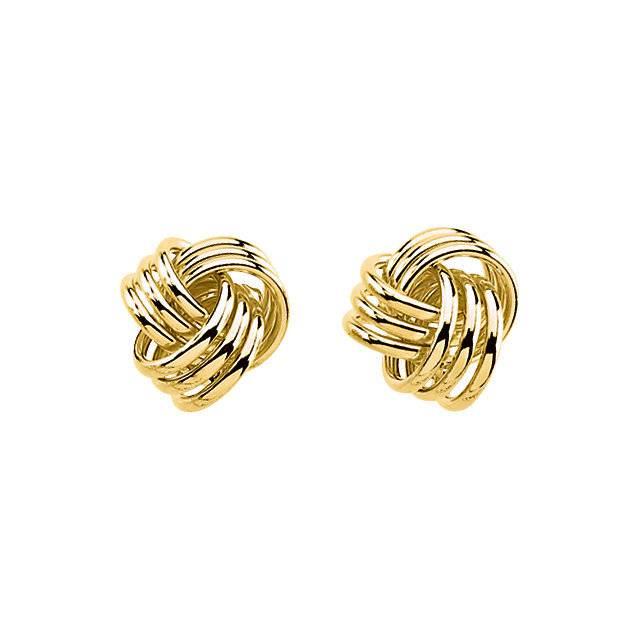 Stuller 14kt Yellow Gold Knot Earrings