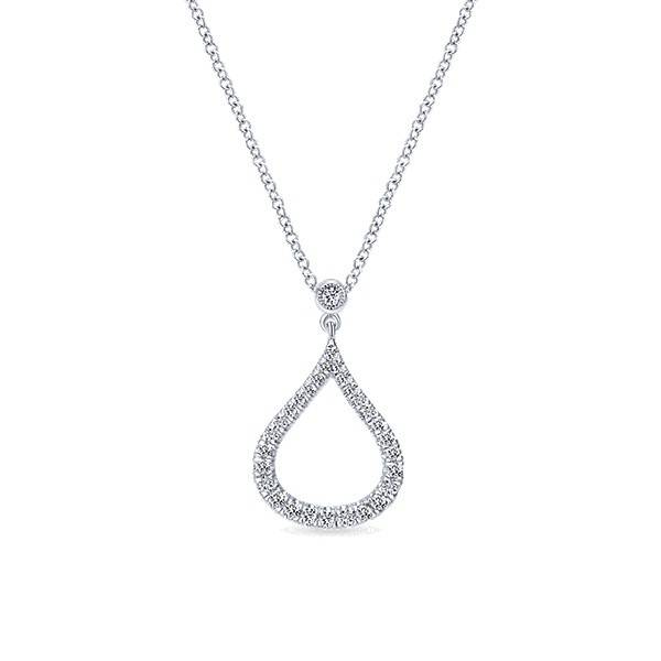 Gabriel & Co NK4386 diamond teardrop necklace