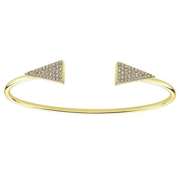 BG3992 Yellow Gold Diamond Bangle