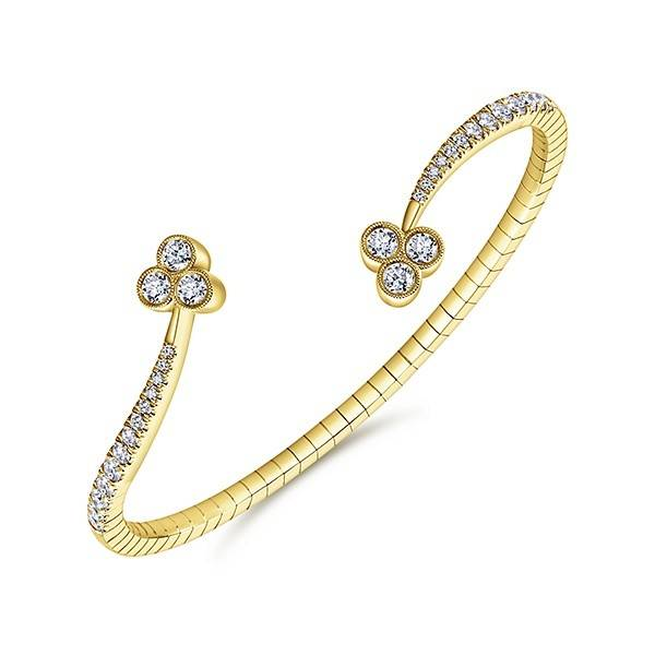 Gabriel & Co BG3983 yellow gold bangle
