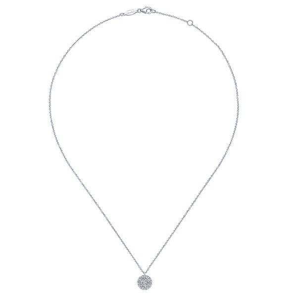 Gabriel & Co NK5334 diamond cluster pendant