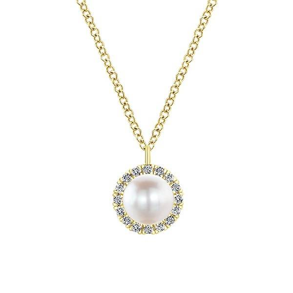Gabriel & Co NK5619 pearl and diamond necklace