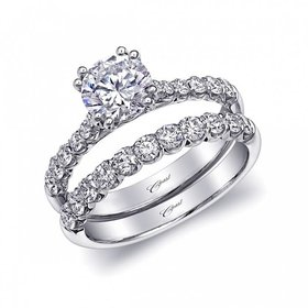 WS15001 prong diamond band 0.54ct 14k