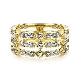 LR51739 3 Row Diamond Band