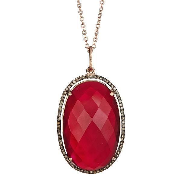Sabrina CP416B-A  Red Agate Necklace