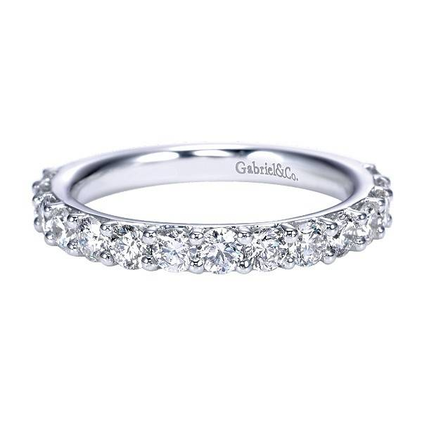 Gabriel & Co AN7685 prong set diamond band