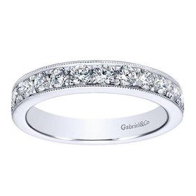 AN12079 milgrain beadset diamond band