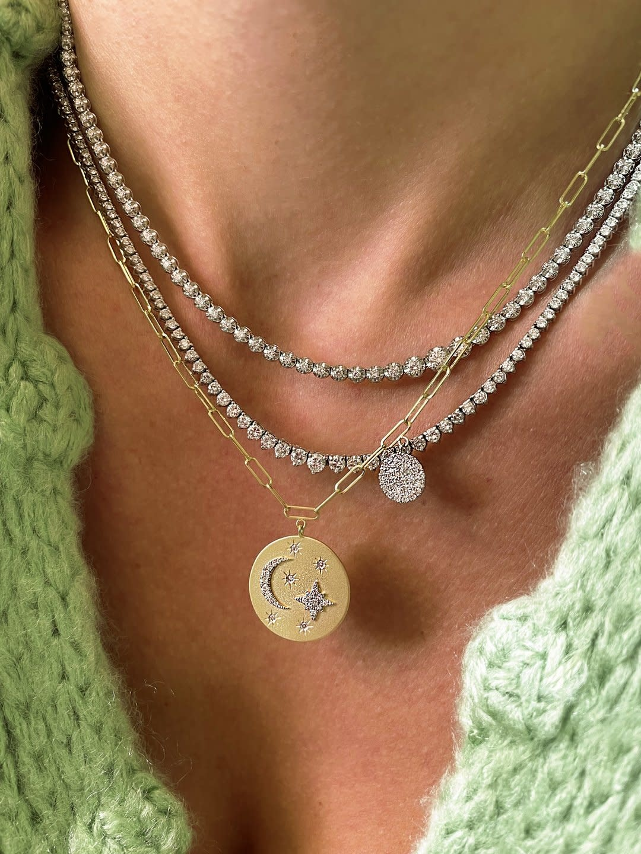 Meira T Celestial Medal Necklace