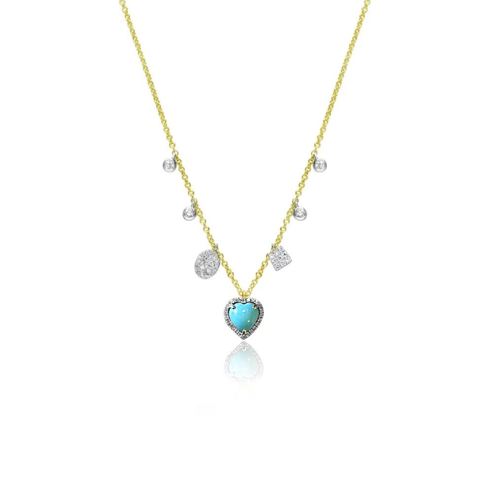 Delicate Turquoise Heart Necklace