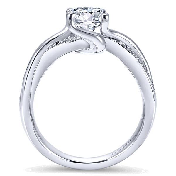 Gabriel & Co ER6360 bypass diamond engagement ring
