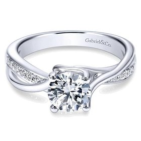 ER6360 bypass diamond engagement ring