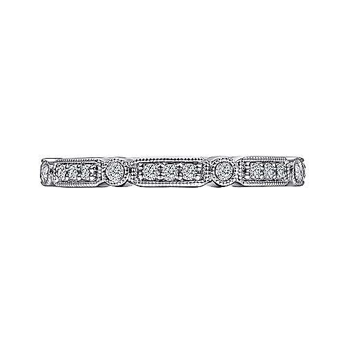 Gabriel & Co AN15375 Diamond Station Stackable Band