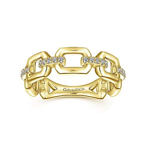 Gabriel & Co LR51248 Diamond Chain Link Band