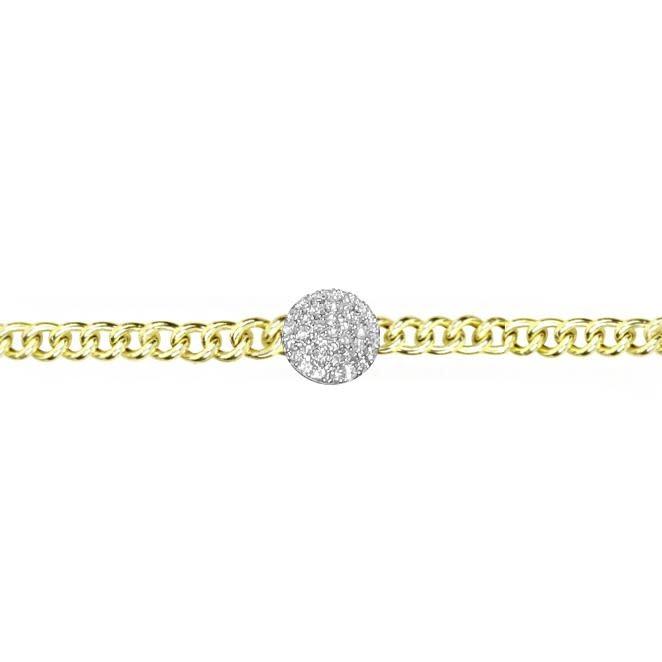 Meira T Diamond Disk Chain Bracelet