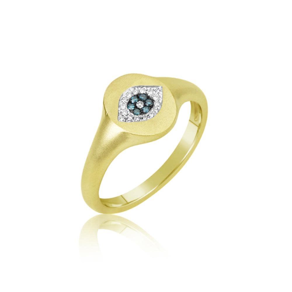 Meira T Evil Eye Signet Diamond Ring