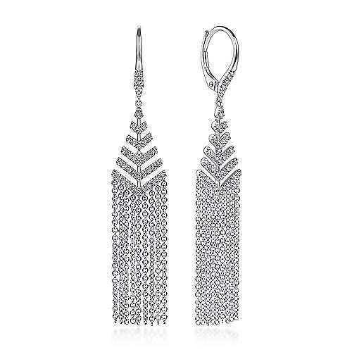 Gabriel & Co EG13937 Diamond Drop Earrings
