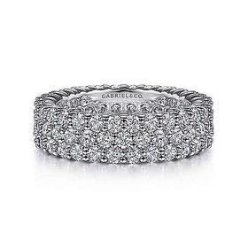 AN6026 - 3 row diamond eternity band 3.31 carat