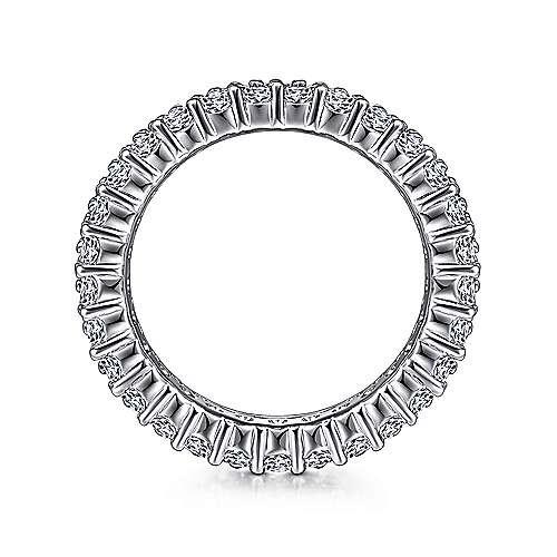 Gabriel & Co AN6026 - 3 row diamond eternity band 3.31 carat