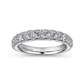 AN5338 prong set diamond band 0.95 carat total