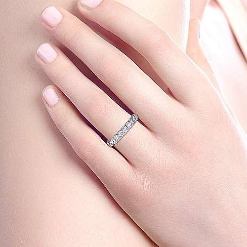 Gabriel & Co AN5338 prong set diamond band 0.95 carat total
