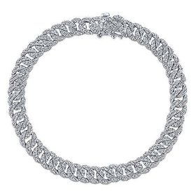 3.34 carat diamond link tennis bracelet