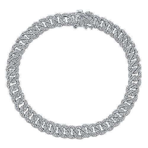 Gabriel & Co 3.34 carat diamond link tennis bracelet