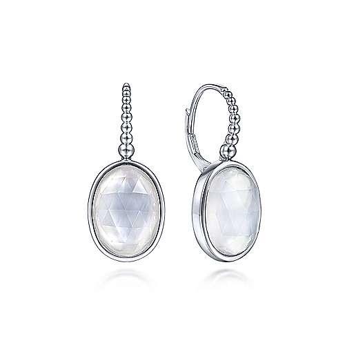 Gabriel & Co Sterling Silver Mother of Pearl & Rock Crystal Earrings