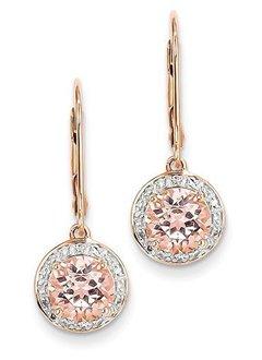 XE2163 morganite diamond earrings