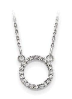 XP5027 diamond circle necklace