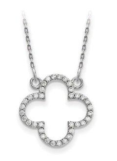 XP5050 Diamond Quatrefoil necklace