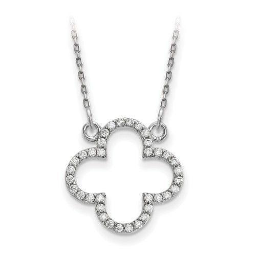 Q Gold XP5050 Diamond Quatrefoil necklace