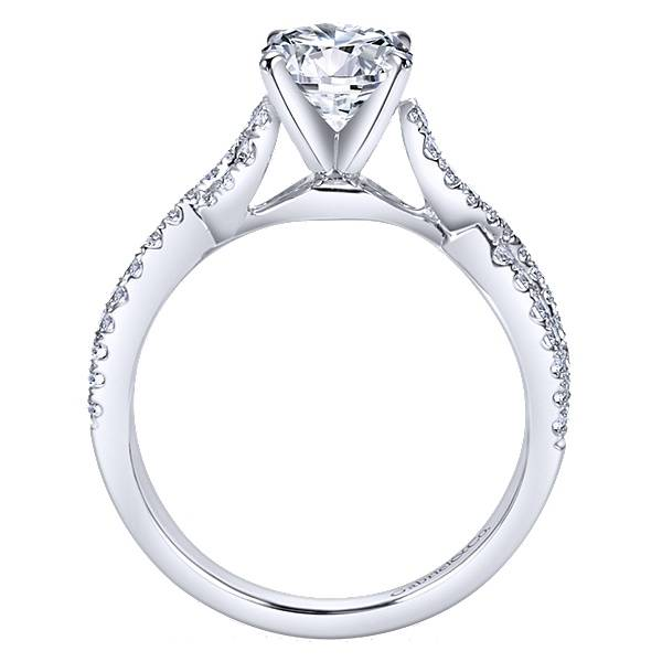 Gabriel & Co Kayla Twisted Engagement Ring Setting