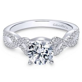 Kayla Twisted Engagement Ring Setting