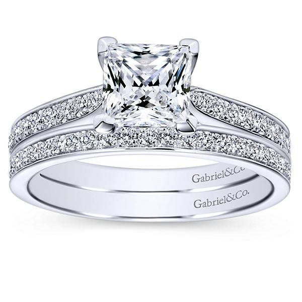 Gabriel & Co ER8916 Princess Diamond Accent Setting