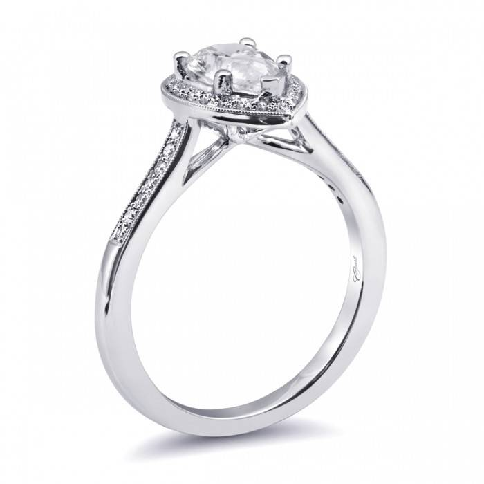 Coast LC5391 Pear Shape Halo Setting