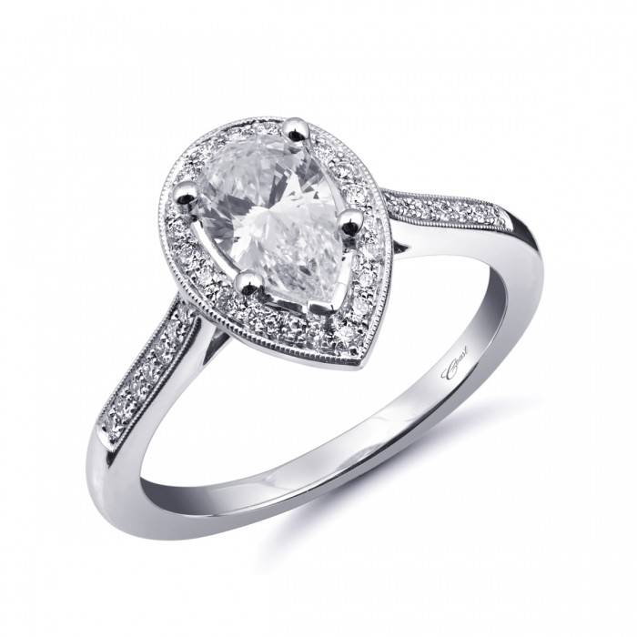 LC5391 Pear Shape Halo Setting