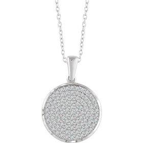 652497 Round Diamond Cluster Necklace