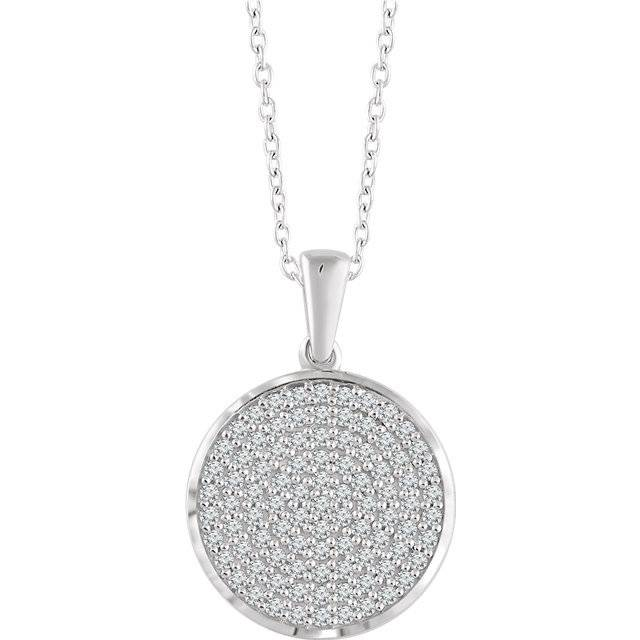 652497 Round Diamond Cluster Necklace