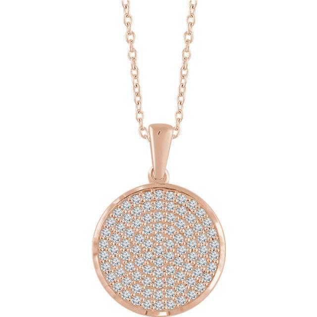 Stuller 652497 Round Diamond Cluster Necklace