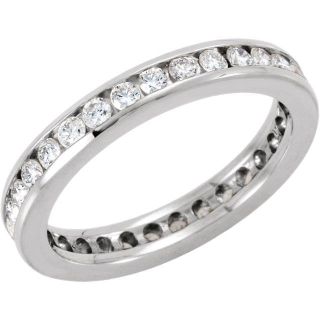 SH87 channel set diamond eternity band