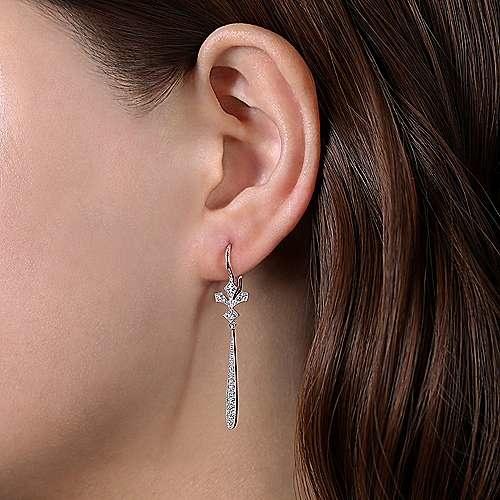 Gabriel & Co EG13859 Diamond Drop Earrings