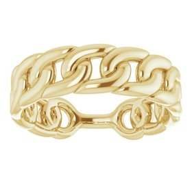 14kt Yellow Gold Chain Link Ring