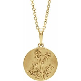 88102 14kt Yellow Gold Floral Necklace