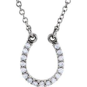 Platinum Diamond Horseshoe Necklace