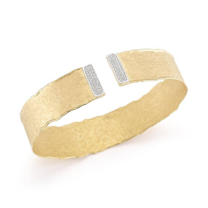 BIR382Y 14kt yellow gold cuff bracelet