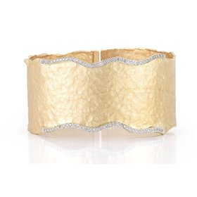 BIR345Y wide diamond cuff bracelet