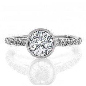 FA8467 bezel engagement ring setting