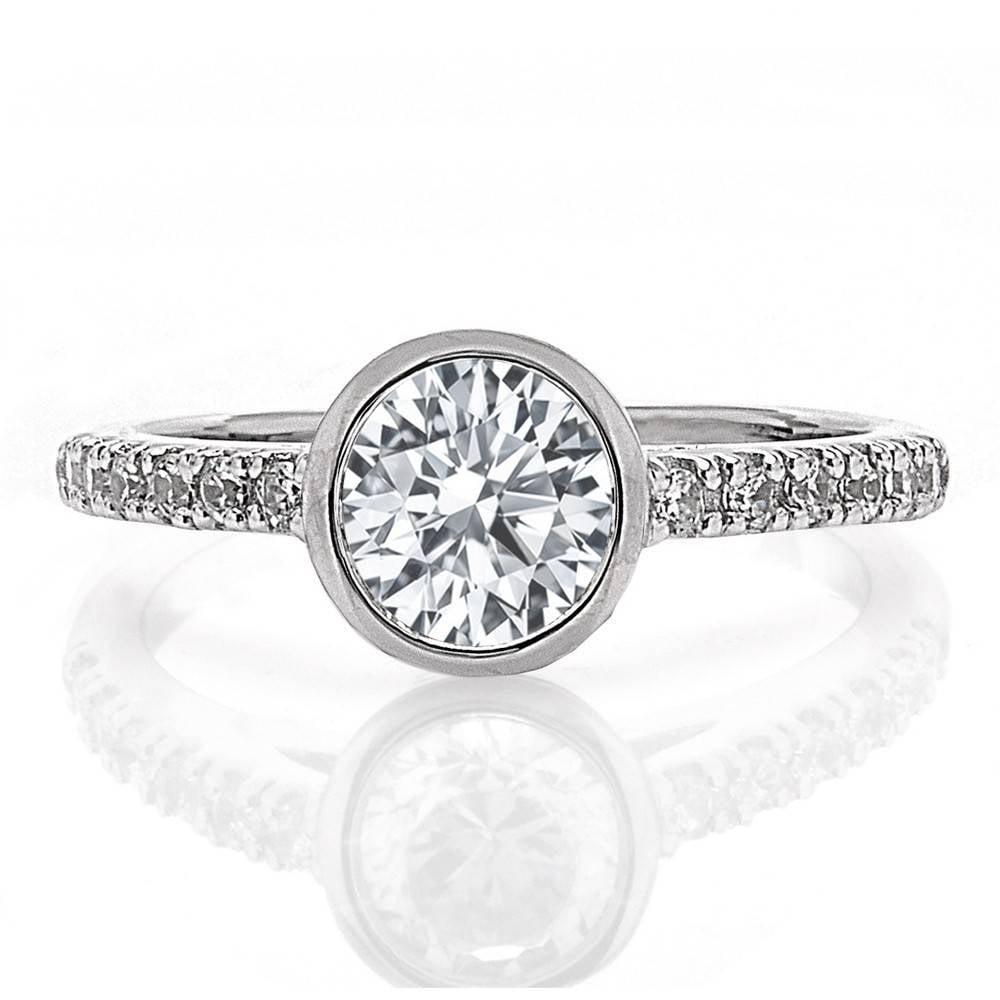Bezel Set Engagement Ring Boston Jewelers Freedman Jewelers