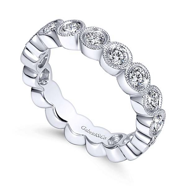 Gabriel & Co AN5269 bezel eternity band
